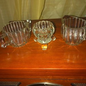Dining - Vintage pressed glass coffee set three pieces